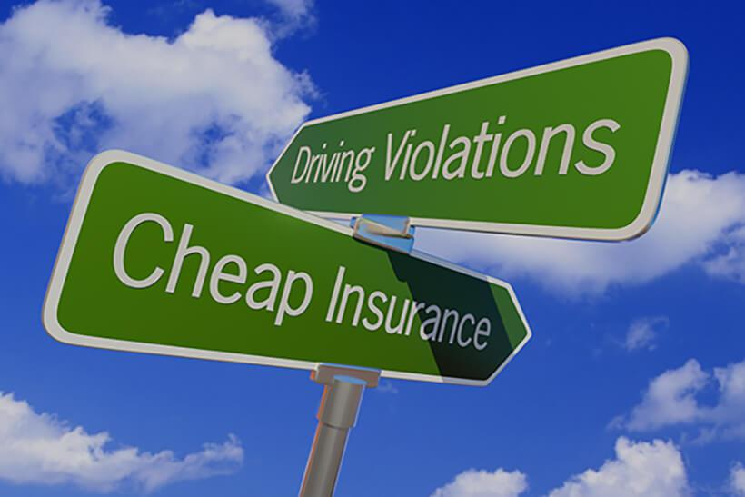 Driving violations and cheap insurance