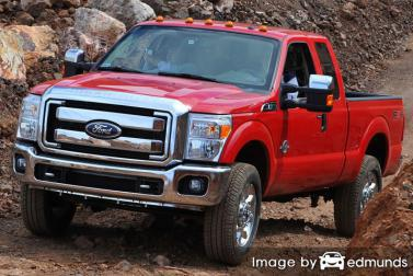Insurance rates Ford F-250 in Baltimore