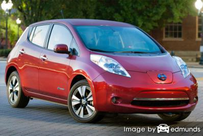 Insurance rates Nissan Leaf in Baltimore