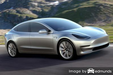 Insurance quote for Tesla Model 3 in Baltimore
